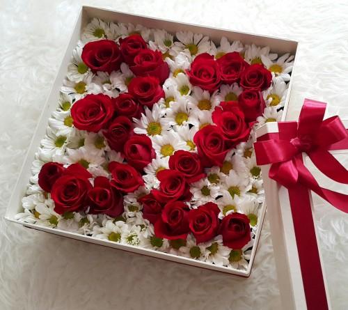 Toko Bunga Serpong Tangerang Jual Pesan Antar Flower Box Bunga Mawar Dengan Angka Atau Huruf