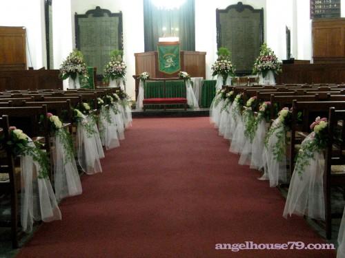 Toko Bunga Florist Dekorasi Wedding Di Gereja Dekorasi