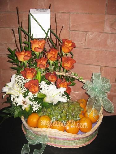 Fruit And Flower Arrangement Rangkaian Bunga Dan Buah Toko Bunga